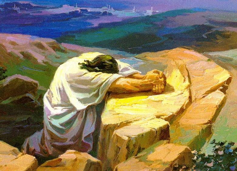 Resultado de imagen de lugares solitarios de jesus en oración