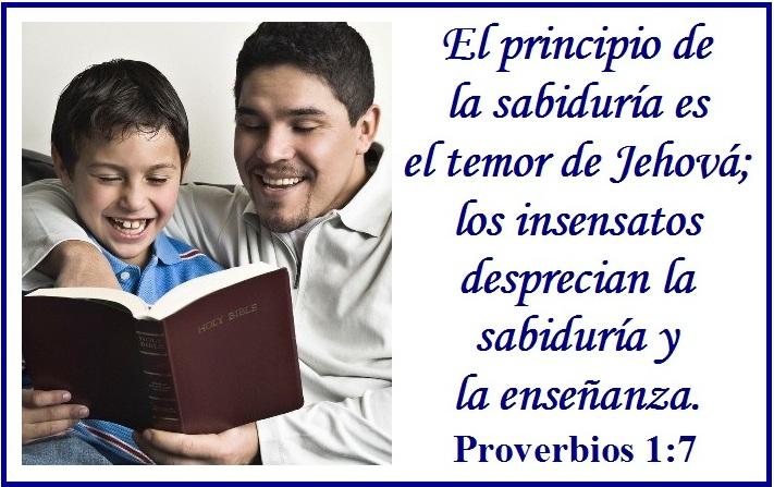 ... insensatos desprecian la sabiduría y la enseñanza. Proverbios 1:7