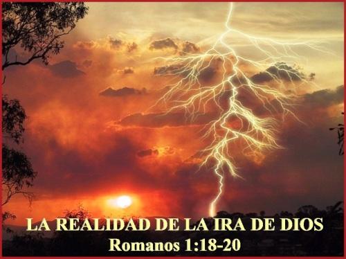La ira de Dios - Romanos 1 vs 18-20
