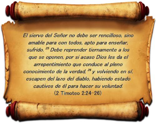 2 de Timoteo 2 vs 24-26