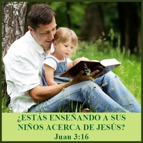 Estás enseñando a sus niños acerca de Jesús