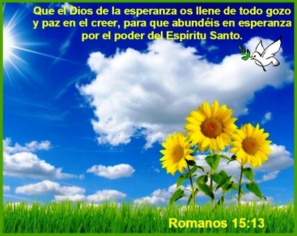 CUAL ES EL SIGNIFICADO DE LA ESPERANZA EN LA BIBLIA? – Romanos 15 ...