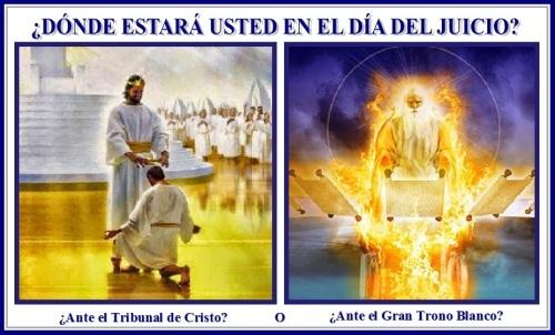 Tribunal de Cristo vs El Gran Trono Blanco
