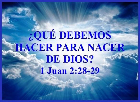 Qué Debemos Hacer Para Nacer De Dios 1 Juan 2 28 29 Mission Venture Ministries En Español