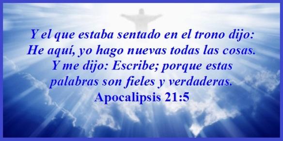 Yo Hago Nuevas Todas Las Cosas Apocalipsis 21 5 Mission Venture Ministries En Español
